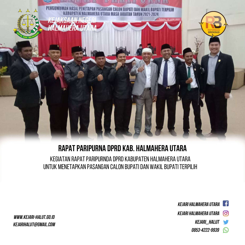 Rapat Pripurna Penetapan Calon Bupati dan Wakil Bupati Terpilih 2020