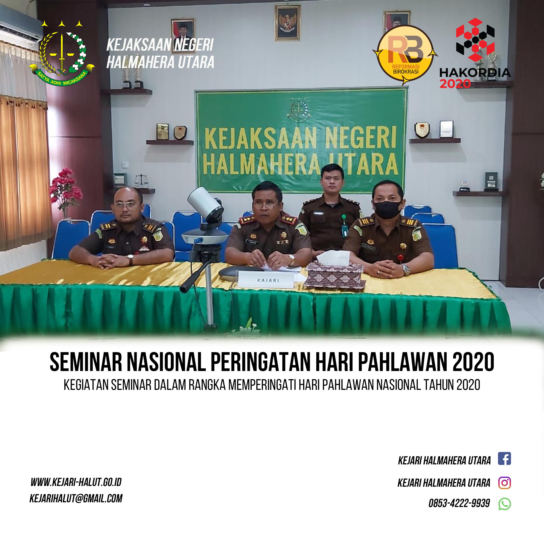 Seminar Nasional Hari Pahlawan Nasional 2020